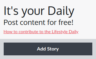 Lifestyle - Your Daily pane with add story button