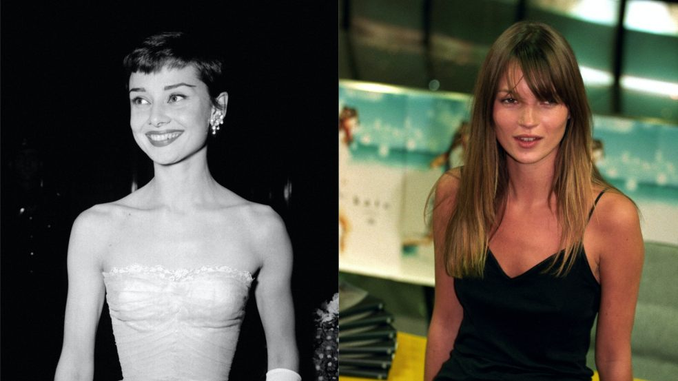 Kate Moss Audrey Hepburn celebrity and fashion