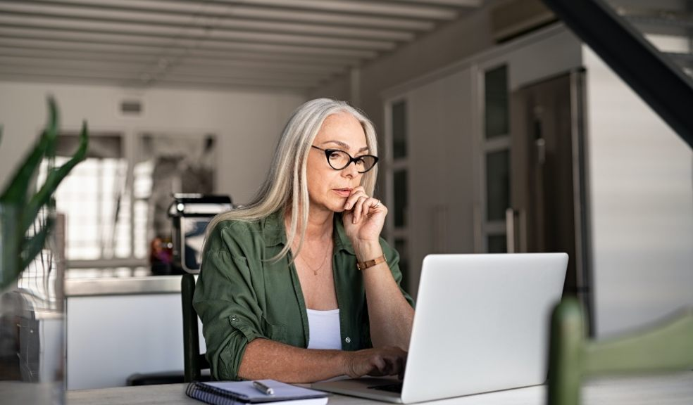 Lady focussing on computer
