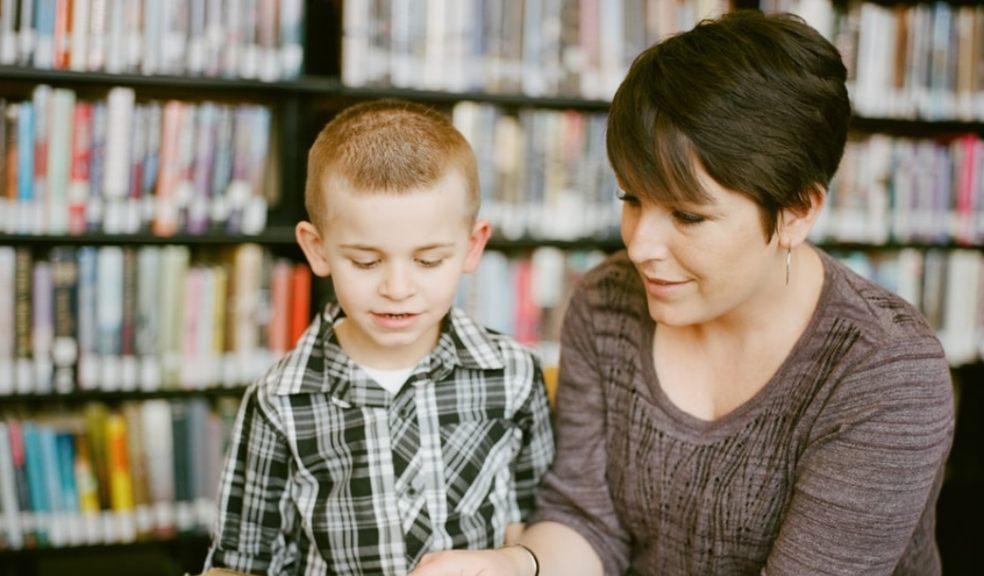 homeschool mum and son