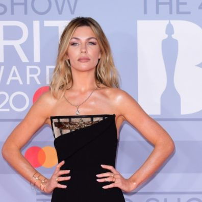 Abbey Clancy arrives at the Brit Awards 2020 London