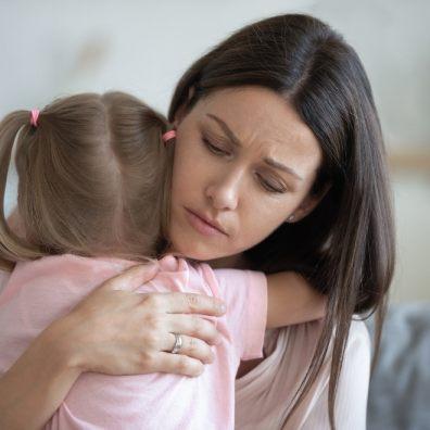 Comforting anxious child