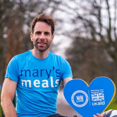 Mark is asking people to help raise money for Miles For Mary's Meals