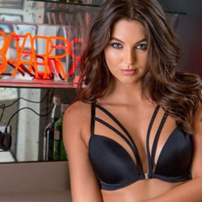 Pour Moi model wearing black lingerie. Fashion