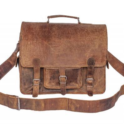 Scaramanga - Medium Overlander Leather Satchel 16 Inch