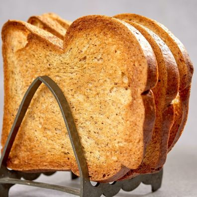 Toast has been named as one of Britain's most boring snacks