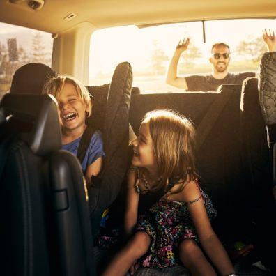 Weekend Road Trip family in car
